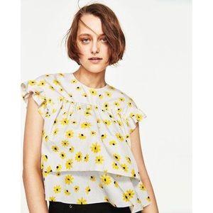 Zara daisy blouse